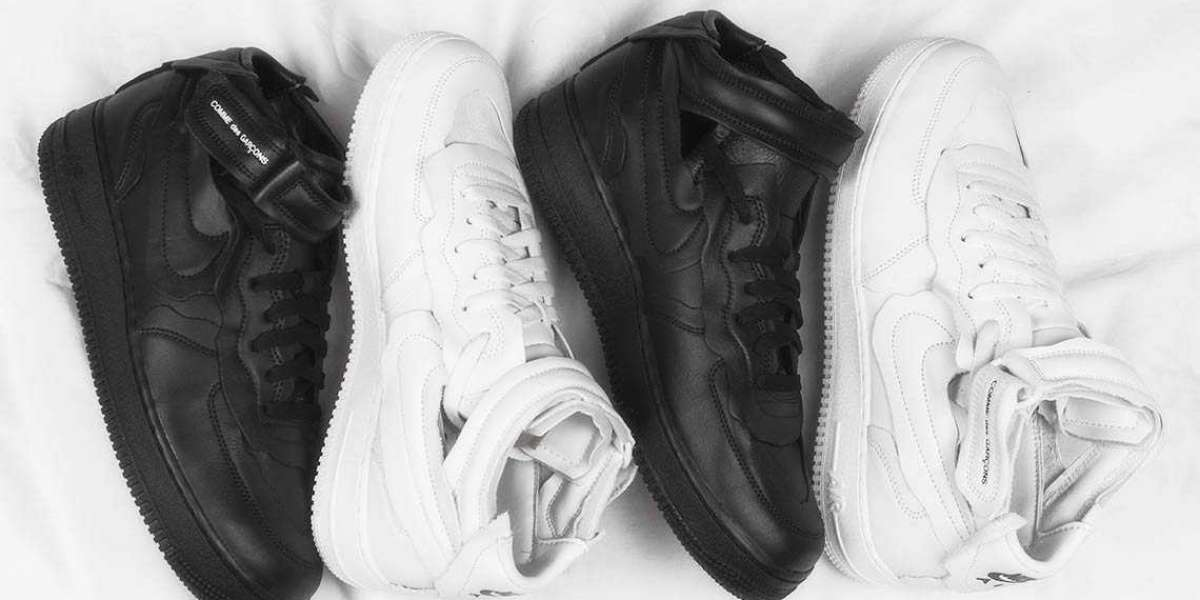 COMME des GARÇONS x Nike Air Force 1 to release white and black colorway end of the month!