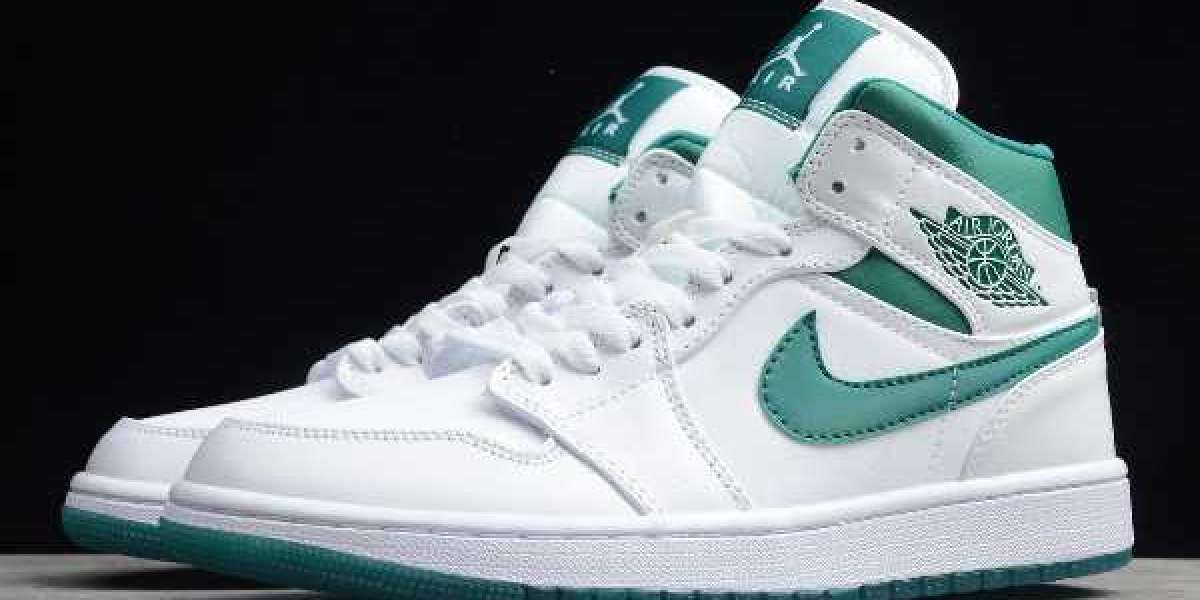 "Best Selling Nike Air Jordan 1 Mid ""Mystic Green"" CD6759-103"