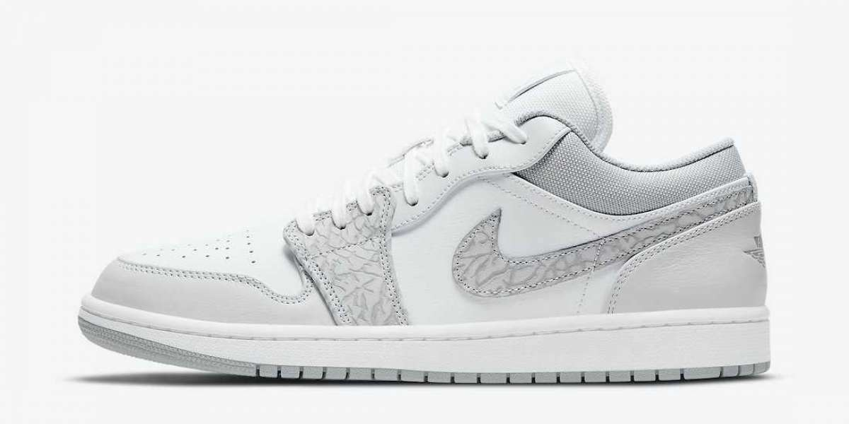 "Most Popular Air Jordan 1 Low PRM ""Elephant Print"" Shoes"